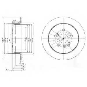 Тормозной диск DELPHI BG3779 - изображение