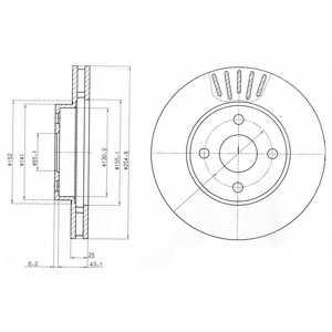 Тормозной диск DELPHI BG3781 - изображение