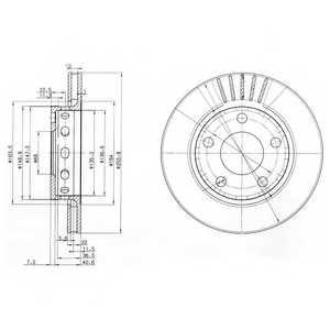 Тормозной диск DELPHI BG3785 - изображение