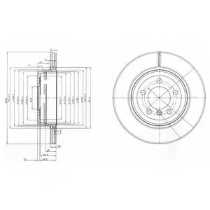 Тормозной диск DELPHI BG3787 - изображение