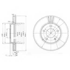 Тормозной диск DELPHI BG3792 - изображение