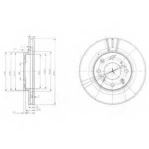 Тормозной диск DELPHI BG3794 - изображение