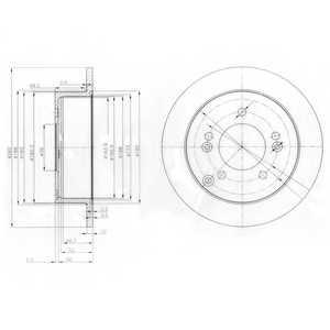 Тормозной диск DELPHI BG3799 - изображение