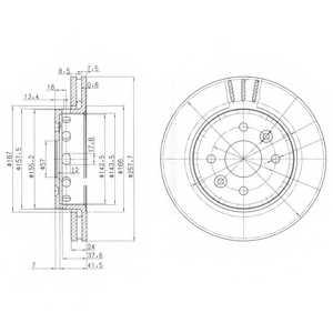 Тормозной диск DELPHI BG3803 - изображение