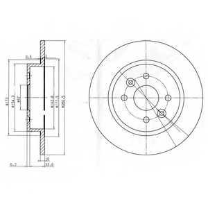 Тормозной диск DELPHI BG3804 - изображение
