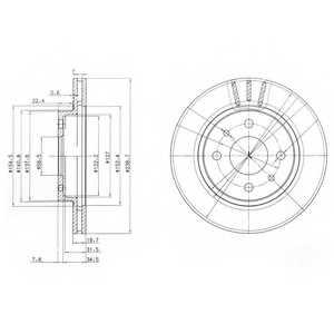 Тормозной диск DELPHI BG3805 - изображение