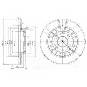 Тормозной диск DELPHI BG3806 - изображение