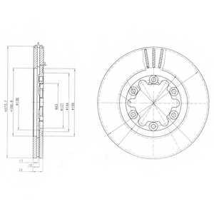 Тормозной диск DELPHI BG3809 - изображение