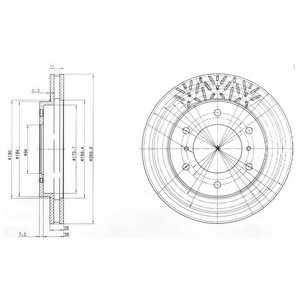 Тормозной диск DELPHI BG3812 - изображение