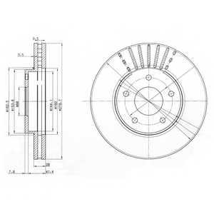 Тормозной диск DELPHI BG3816 - изображение