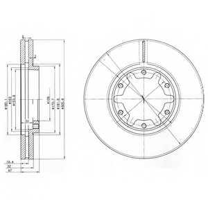Тормозной диск DELPHI BG3817 - изображение