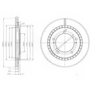Тормозной диск DELPHI BG3820 - изображение