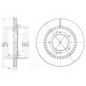 Тормозной диск DELPHI BG3821 - изображение