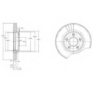 Тормозной диск DELPHI BG3826 - изображение