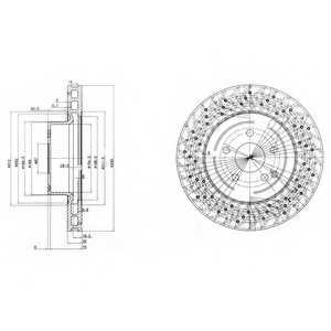 Тормозной диск DELPHI BG3827 - изображение