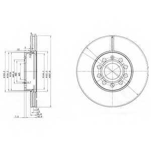 Тормозной диск DELPHI BG3833 - изображение