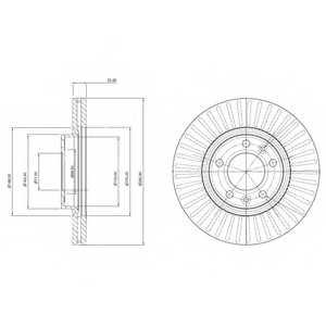 Тормозной диск DELPHI BG3835 - изображение