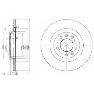 Тормозной диск DELPHI BG3836 - изображение