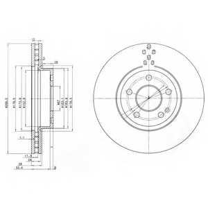 Тормозной диск DELPHI BG3838 - изображение