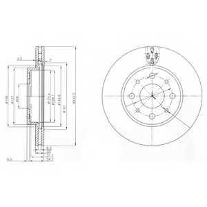 Тормозной диск DELPHI BG3839 - изображение