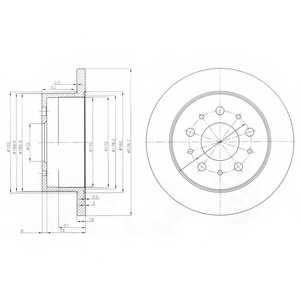 Тормозной диск DELPHI BG3853 - изображение