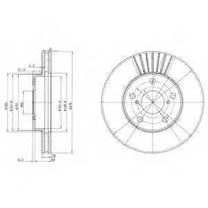 Тормозной диск DELPHI BG3856 - изображение