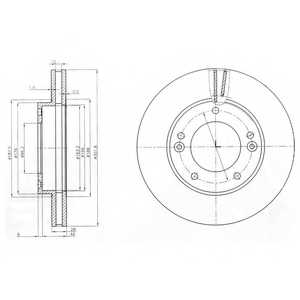 Тормозной диск DELPHI BG3858 - изображение