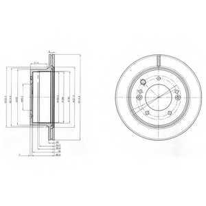 Тормозной диск DELPHI BG3859 - изображение