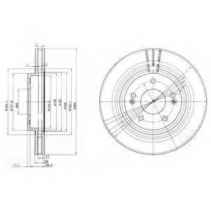 Тормозной диск DELPHI BG3860 - изображение