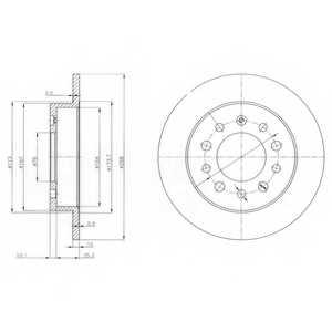 Тормозной диск DELPHI BG3862 - изображение