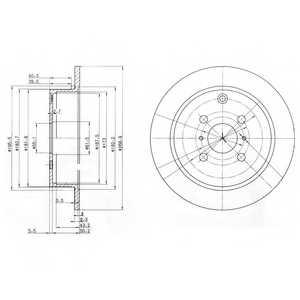 Тормозной диск DELPHI BG3867 - изображение