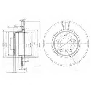 Тормозной диск DELPHI BG3870 - изображение