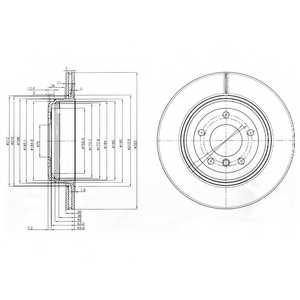 Тормозной диск DELPHI BG3872 - изображение