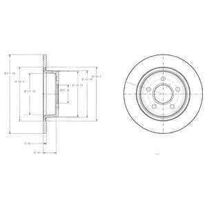Тормозной диск DELPHI BG3873 - изображение