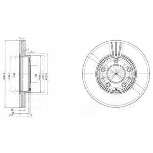 Тормозной диск DELPHI BG3874 - изображение