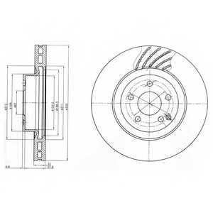 Тормозной диск DELPHI BG3877 - изображение