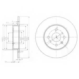 Тормозной диск DELPHI BG3885 - изображение