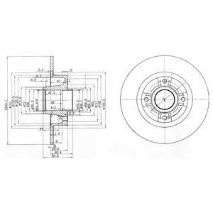 Тормозной диск DELPHI BG3888 - изображение