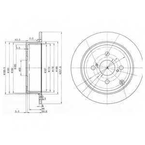 Тормозной диск DELPHI BG3889 - изображение