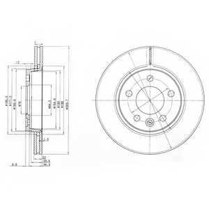 Тормозной диск DELPHI BG3893 - изображение