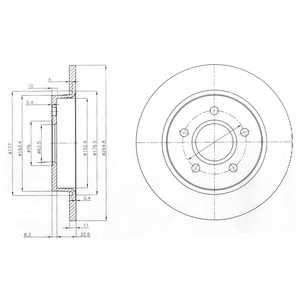 Тормозной диск DELPHI BG3896 - изображение