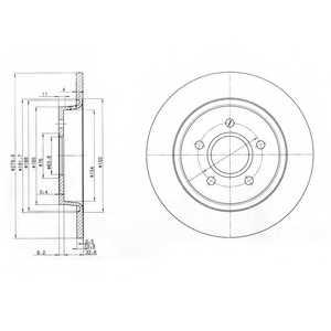 Тормозной диск DELPHI BG3897 - изображение