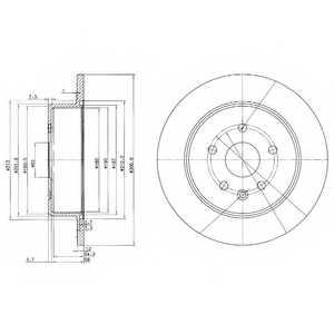 Тормозной диск DELPHI BG3907 - изображение