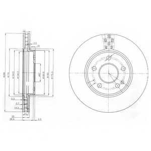 Тормозной диск DELPHI BG3909 - изображение