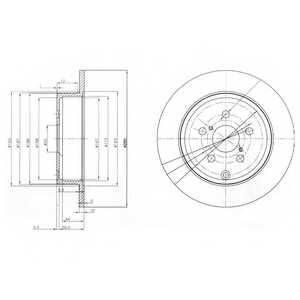 Тормозной диск DELPHI BG3912 - изображение