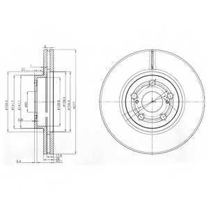 Тормозной диск DELPHI BG3913 - изображение