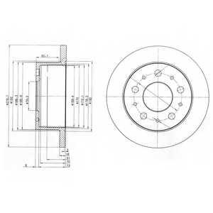 Тормозной диск DELPHI BG3923 - изображение