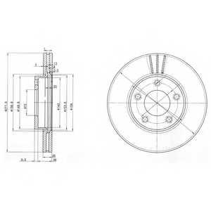 Тормозной диск DELPHI BG3927 - изображение