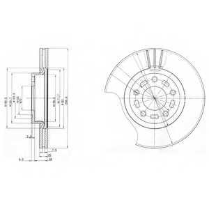 Тормозной диск DELPHI BG3928 - изображение