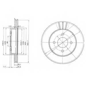 Тормозной диск DELPHI BG3932 - изображение